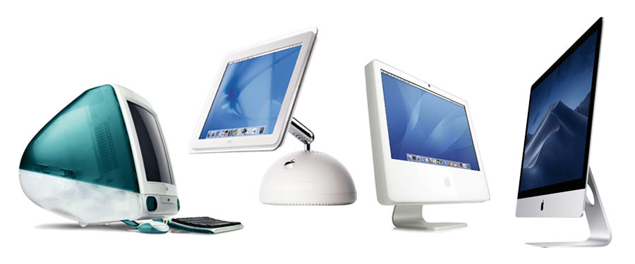 iMac product design from 1998 to 2012