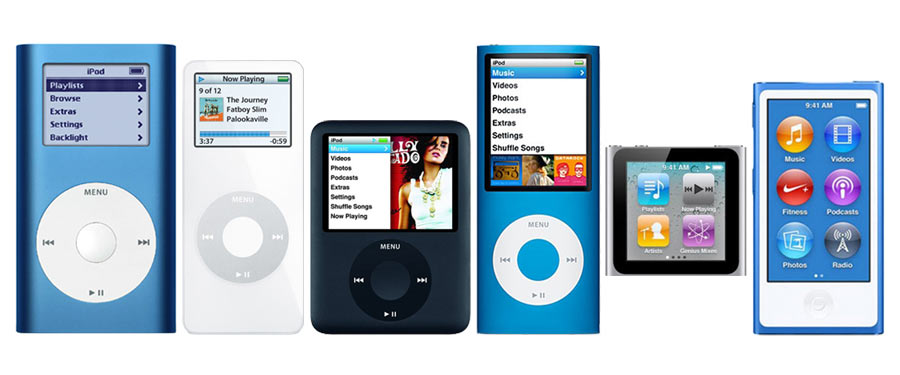 iPod Nano received a design overhaul nearly every year in its existence