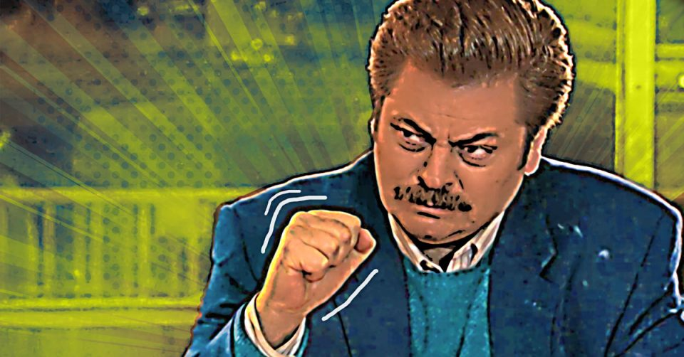 How to turn photos into a comic strip, featuring Ron Swanson