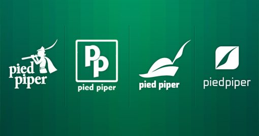 Pied Piper's logo shows Silicon Valley's story arc